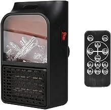 FGHTL Eléctrico Calentadore,Mini Calentador Llama eléctrico Toma Pared/Calentador Aire con Enchufe Estufa calefacción cerámica/calienta rápidamente, Dormitorio Oficina casa(1000W)