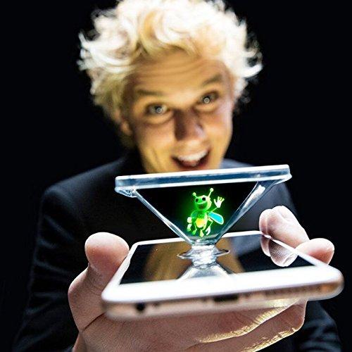 SODIAL Licht geplatzt Honigbiene magische Laterne Spielzeug magische Finger Prop Lampe 3D Hologramm Projektion Spielzeug Party Leistung Magisches Licht