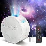 PEYOU Proyector Estrellas, Proyector LED de Luz Nocturna Giratorio Estrellas Océano con Altavoz Bluetooth Temporizador...