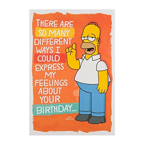 Hallmark 25488535Simpsons Geburtstag Karte