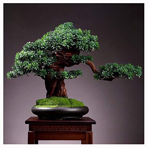 Árbol artificia Árboles artificiales en macetas de interior al aire libre, planta de pino falso decoración del hogar árbol bonsái para la decoración del jardín del hogar Árboles Artificiales decoracio