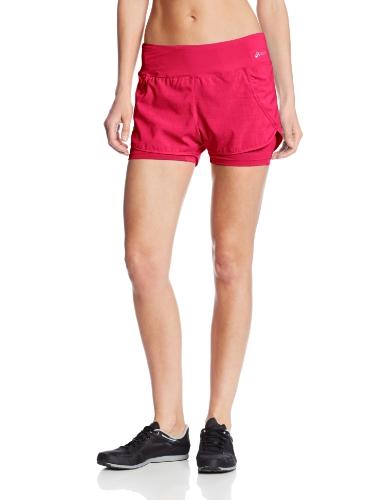 ASICS Pantalón Corto Pure 2-n-1 para Mujer, Mujer, WS0426, Rosa GLO, M