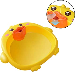 Baby Wash Basin, Hamkaw Duck Baby Nursing Care Basin with Water Spray - Thickened & Portable, Newborn Wash Tub Hand Foot Washbasins Kitchen Sinks Laundry Bathroom Camping Tub for Baby Pets