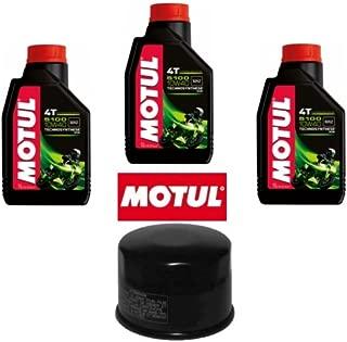 Kit para revisión de filtro de aceite + 3 litros de aceite Motul 5100 10W40 para Yamaha