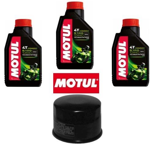 Motul 5100 - Kit d'entretien comprenant filtre à huile + 3 litres d'huile 10 W40, pour Yamaha T-Max 500 (2008)