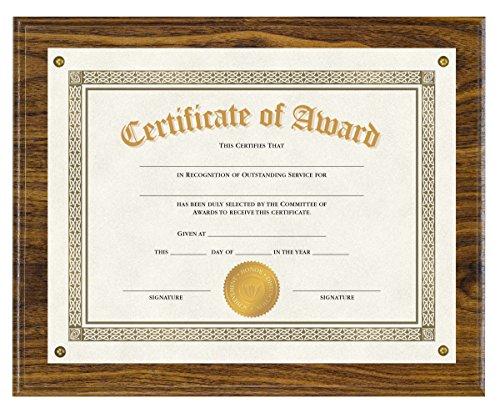Walnut Plaque Award - 7