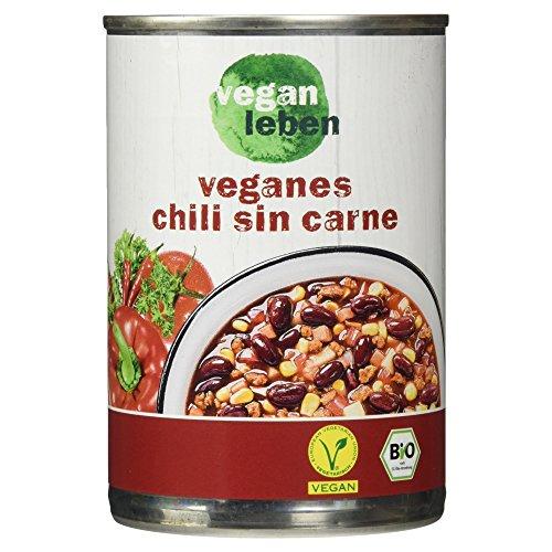 vegan leben Veganes Bio Chili sin Carne, 400 g