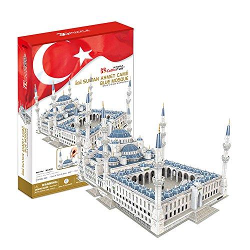 CubicFun 3D Puzzle Sultan-Ahmed-Moschee in Istanbul, blau