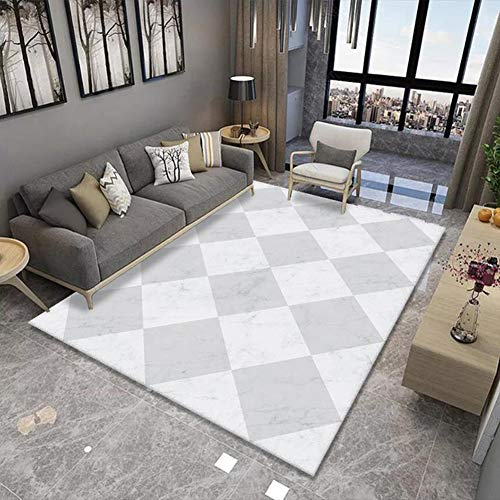 Simple Rectangular Decorative Area Rugs is Suitable for Living Room, Bedroom, Dining Room, Kitchen Festive Atmosphere Carpet (Color : B, Size : 2.6'x3.9')