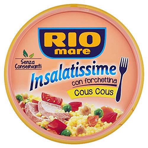 Rio Mare - Insalatissime Cous Cous e Tonno con Ceci, Piselli, Pomodorini, Senza Conservanti, Certificato MSC, 1 lattina da 220g con Forchettina Inclusa
