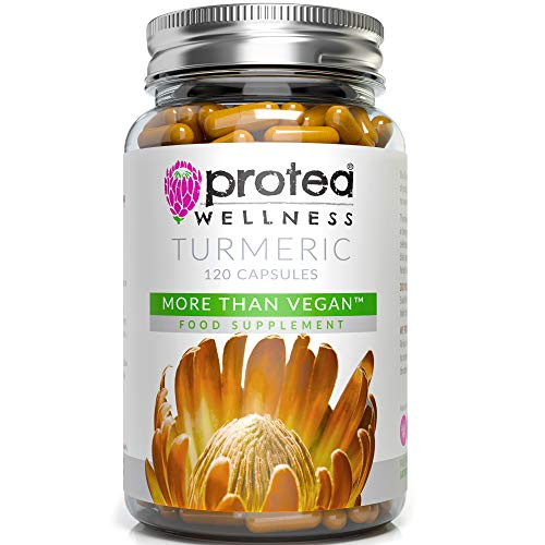 Vegan Turmeric and Black Pepper Capsules - 120 Curcumin Supplements in The Form of Organic Turmeric Capsules High Strength - Your Natural Turmeric Supplement - Made in UK