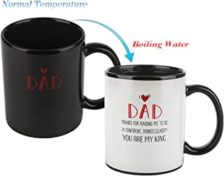 Fathers Coffee Mug Heat Changing Milk Cup, DAD YOU ARE MY KING - Cool Dad Gift Idea Heat Sensitive Mug 12OZ Tea Cup, Add Coffee or Tea and a Funny Happy Scene Appears