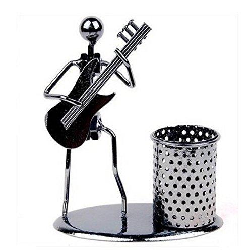 School Days strumento musicale Iron Art Steel Pencil Cup portapenne metallo Desk Storage Gift Violin