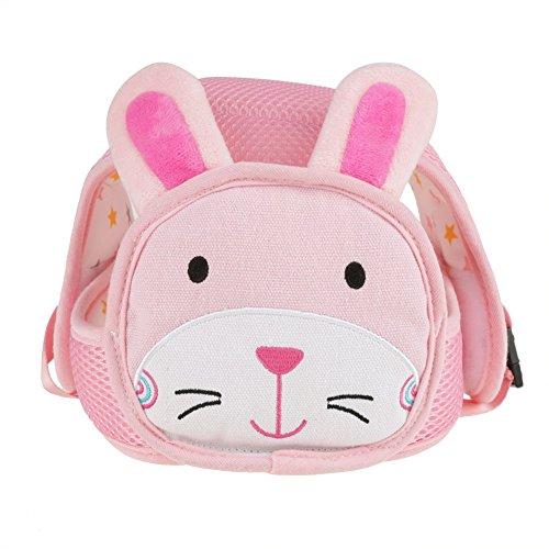 Baby säkerhet hatt justerbar hjälm huvudskydd hatt tecknat djur för småbarn spädbarn gång krypande cykling Kanin