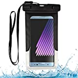 Waterproof Dry Bag Cell Phone Pouch (Black) for Google Pixel 3a XL, 3a, 3 XL, 2 XL, Greatcall Jitterbug Smart2, HTC U12+