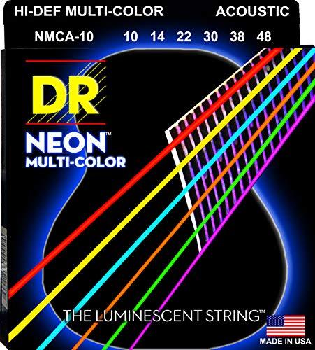 DR A NEON MCA-10 HiDef Acoustic Saite mehrfarbig