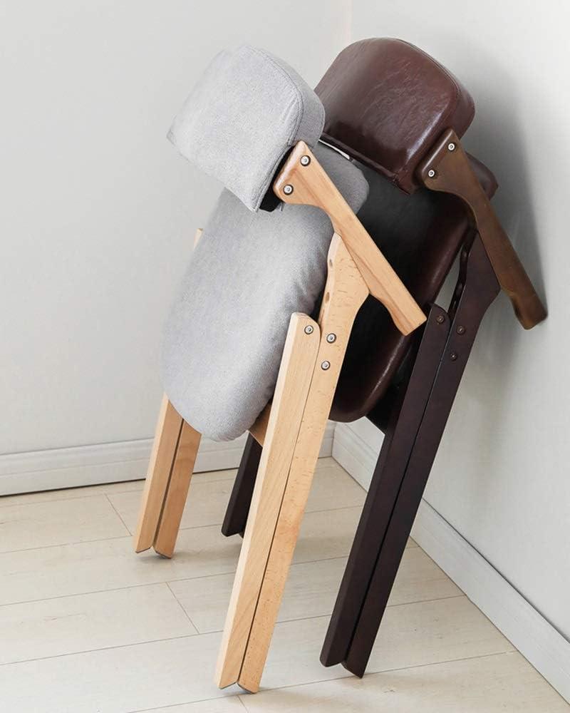 LJFYXZ Chaises de Cuisine Fauteuil Pliant Chaise de Bureau Tapis en Tissu aéré Chaise en Bois Massif Porteur 120kg 53x56,5x74,5 cm (Color : Khaki) Blue