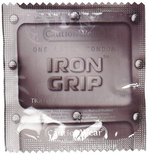 40Pcs Caution Wear Iron Grip Snugger Fit Small Condoms