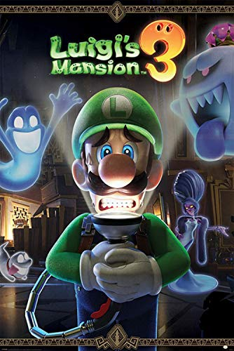 1art1 Super Mario Poster - Luigis Mansion 3 Youre in for A Fright (91 x 61 cm)