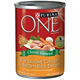 Purina One 13 oz Classic Ground Chicken and Brown Rice Dog Food