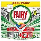 Fairy Platinum Plus - Pastillas para lavavajillas todo en uno, 84 cápsulas de...