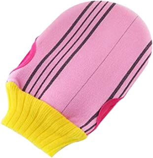 Soft Body Cleaning Bath Gloves Towels Bath Exfoliating Mitts 1 piece, PINK