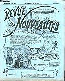 """REVUE DES NOUVEAUTES N°85 / AVRIL - Nouveau bouchon « Le Select » . Filtre """"Sécuritas"""" . Nouveau réchaud « Primus » démontable. Pare-Soleil « Le Pratique ». Support extensible. Mouilleur avec boîte à timbres. Mouilleur en cristal. Gratte-boue. ETC."""