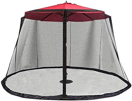Patio Mosquito Netting,Polyester Mesh Screen with Zipper Umbrella Mosquito Netting for Porch Canopy Set Screen House Works Outdoor Garden Umbrella Table Parasol Mosquito Net Cover Bug Netting Cover.