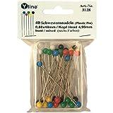 Yline 40 Schwesternnadeln mit Kunststoffkopf versch. farbig ca. 48 mm, Tapezierstecker Nadeln...