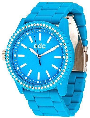 edc by ESPRIT Damen-Armbanduhr Stone Starlet Analog Quarz Plastik