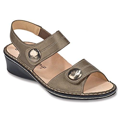 FinnComfort sandały damskie Alanya 02677410189 beżowe 107347, brązowy - brązowy - 38 EU