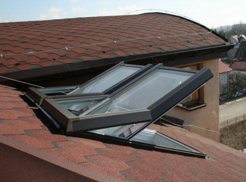 AFG Skylight Premium Dachfenster PVC 78 x 98 mit Eindeckrahmen Dachflächenfenster Schwingfenster