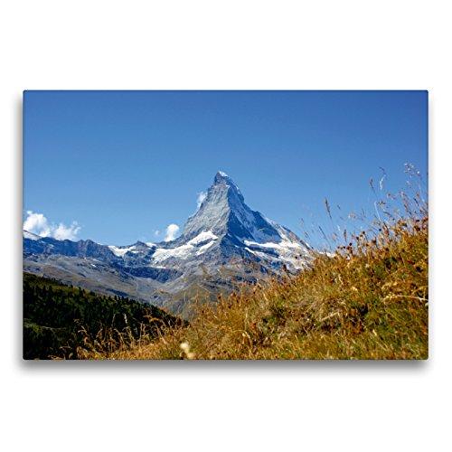Premium Textil-Leinwand 75 x 50 cm Quer-Format Faszination Matterhorn   Wandbild, HD-Bild auf Keilrahmen, Fertigbild auf hochwertigem Vlies, Leinwanddruck von Susan Michel