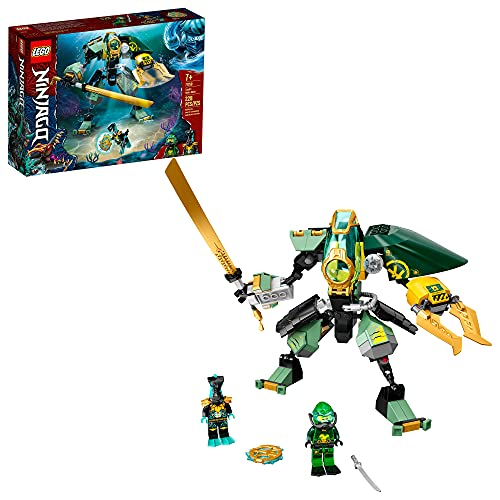 LEGO NINJAGO Lloyd's Hydro Mech 71750 Building Kit; Underwater Playset with NINJAGO Lloyd and Mech; New 2021 (228 Pieces)