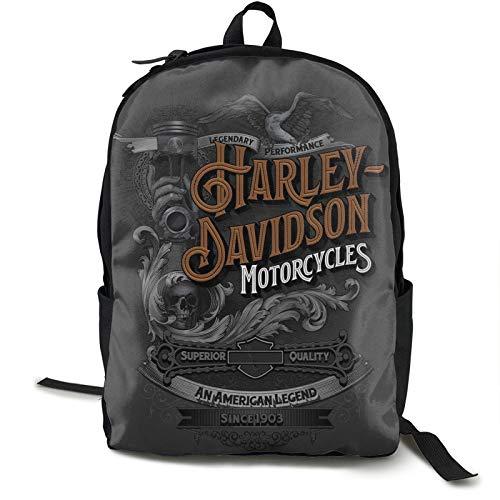 Harley Davidson 6 Reise-Laptop-Rucksack für Herren, für Camping, Klettern, Radfahren