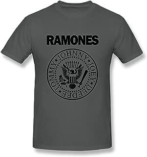 UrsulaA Mens Fashion Ramones T-Shirts Asphalt