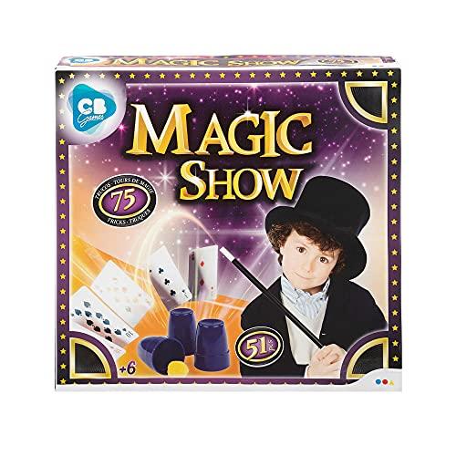 ColorBaby - Juego magia, Trucos magia infantil 51 piezas, Magic Show con 75 trucos, varita mago para niños, Juego magia niños 6 años, Juguetes educativos y creativos para niños y niñas (43756)