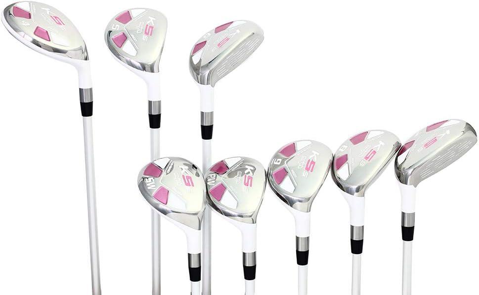 Majek White Pearl Petite Ladies Golf Hybrids Irons Set New Petit