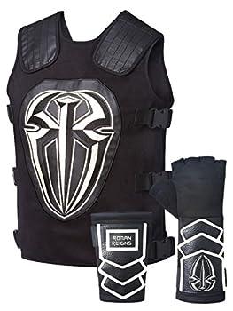 Roman Reigns White Tactical Replica Vest Superman Punch Glove Costume