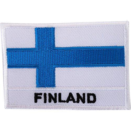 Finnland-Flagge, bestickt, zum Aufbügeln oder Aufnähen, für finnische Hemden, Jacke, Stickerei.