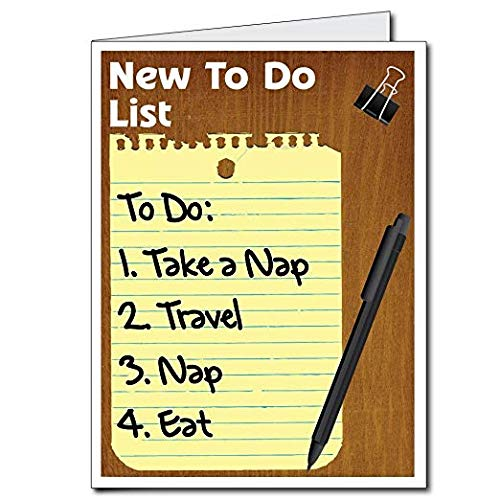 "VictoryStore Jumbo Greeting Cards: Giant Retirement Card (To Do List), 18"" x 24"" Card with Envelope"