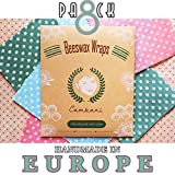 Envoltorios De Alimentos De Cera De Abejas 8 Paquetes Hecho a mano en Europa por Cambani (2 Pequeño 2 Mediano 2 Grande 2 Extra Grande)