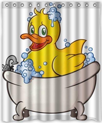 CHATAE gelb Ente in Dose wasserdicht Stoff Polyester Badezimmer Dusche Vorhang 152,4cm (W) X 182,9cm (H)