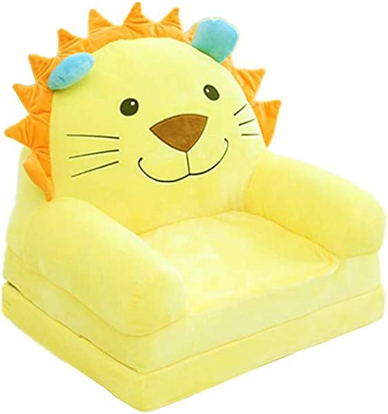 Fivtyily Cute Cartoon Shape Kids Sofa Chair Soft Plush Toddler Armchair Toddler Furniture For Living Room Bedroom Yellow