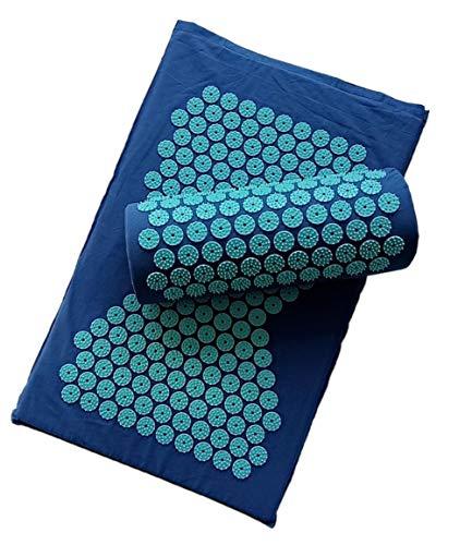 Yoga Acupressuur Mat en Kussen Set Bed Pilates Massager Kussen Mat Spier Ontspanning Oefening Rughals Massage Pad D
