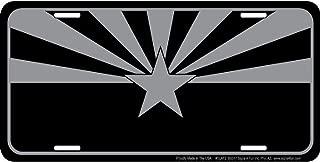 Signs 4 Fun SLATZ Tactical Arizona Flag License Plate, Black