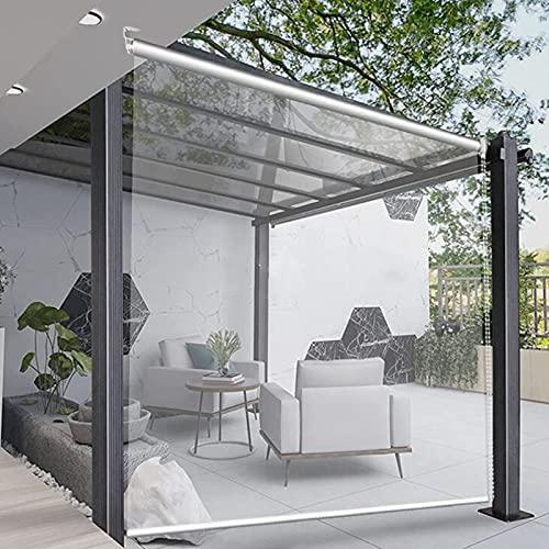 Jcnfa- Persianas Enrollables Al Aire Libre Pérgola,PVC Transparente Cortina a Prueba De Viento a Prueba de Lluvia,para Balcón de Jardín Estor,70/90/110/130 / 150cm Ancho(Size:150×100cm(59×39.3in))