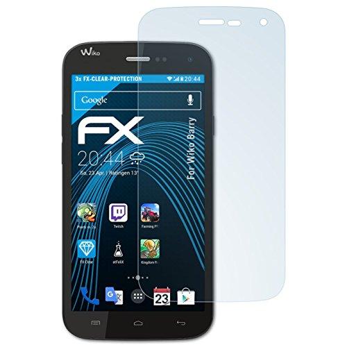 atFolix Schutzfolie kompatibel mit Wiko Barry Folie, ultraklare FX Bildschirmschutzfolie (3X)