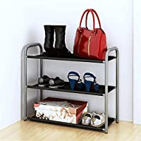 PLLP 棚床靴ラック寮多層シンプルアセンブリ靴ラック収納ラック金属ダスト靴ラック,60x24x52cm,60x24x52cm