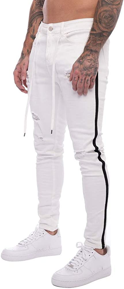 IDEALSANXUN Mens Skinny Ripped Jeans Discount is also underway Slim Je Stretch Tapered-Leg Some reservation